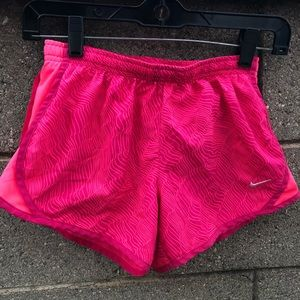 Nike Dri-Fit Athletic Running Track Pink Shorts
